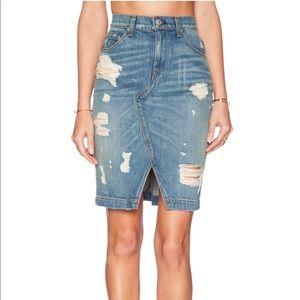 NWOT Rag & Bone Shredded denim skirt